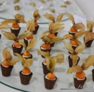 Copinhos de Chocolate com Physalis